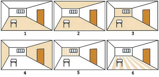 optické úpravy interiéru