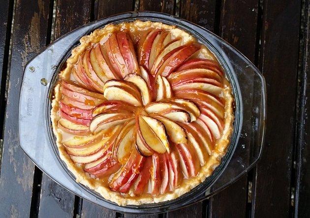Francouzský jablkový koláč