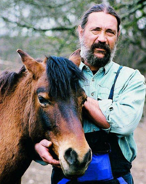 Huculský kůň a chovatel