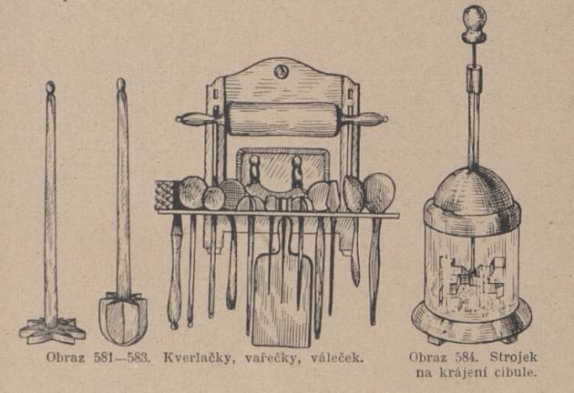 Strojek na krájení cibule.