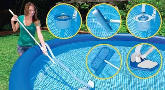 K čištění bazénu máme mnoho možností,