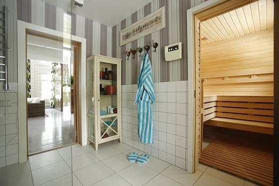Sauna může být součástí koupelny