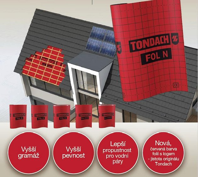 Nové pojistné hydroizolační fólie TONDACH Fol N