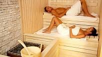 sauna s možností ležení