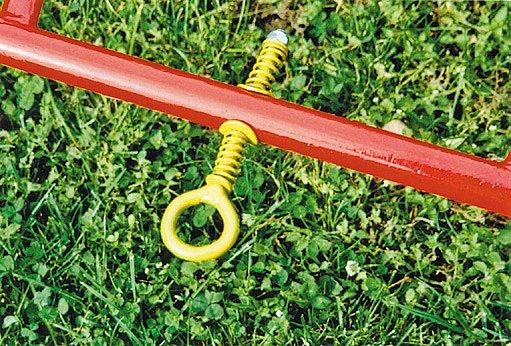 zahradní válec z bojleru - tažné zařízení