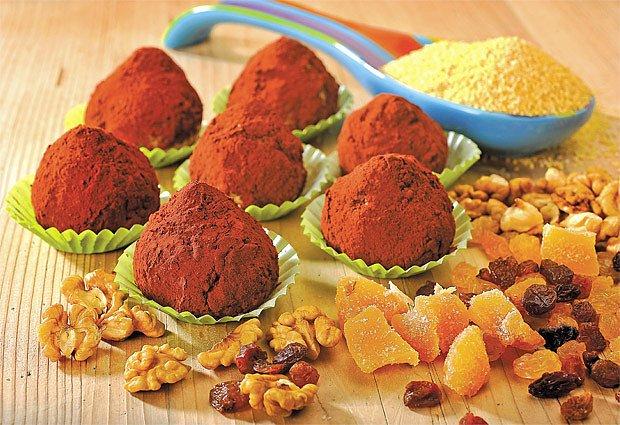Jáhlové ovocné kaštánky s medem a skořicí