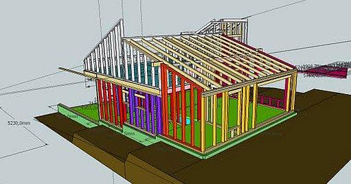 návrh domu ve SketchUp
