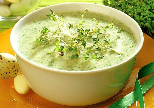jarní polévka s řeřichou