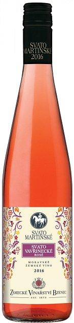Zámecké vinařství Bzenec Svatovavřinecké rosé, Svatomartinské 2016