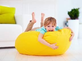 Sedací pytel umožní dětem spoustu zábavy.