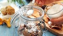 Nakládání hub do soli