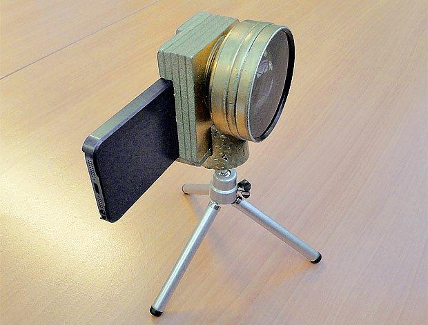 nástavec na fotoaparát s předsádkou