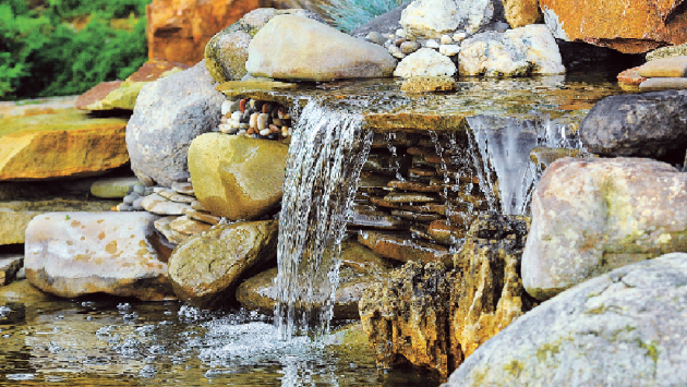 Jemný hlas vody tiší nervy