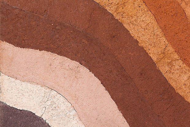 Přirozené barvy hliněné omítky