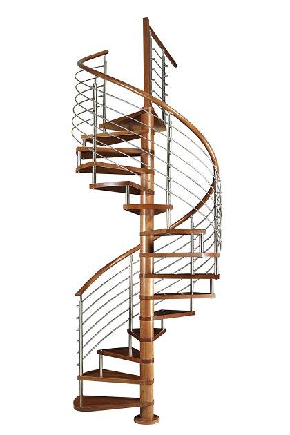 Točité schodiště se vejde všude.