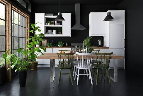 Nejsilnější kontrast vytváří kombinace bílé a černé barvy.