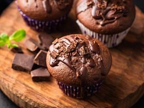 Skvělé muffiny s kousky čokolády