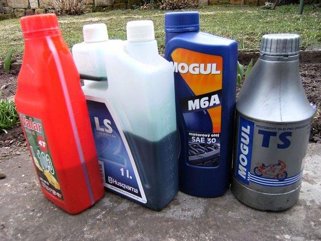 Olejů pro motory je velký výběr.