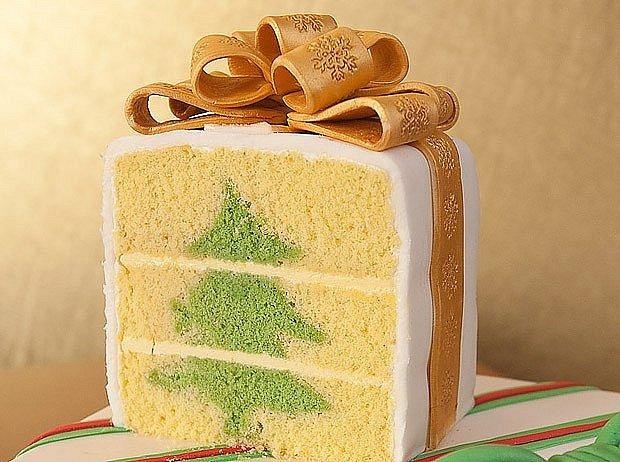 A takhle vypadá hotový dort na řezu