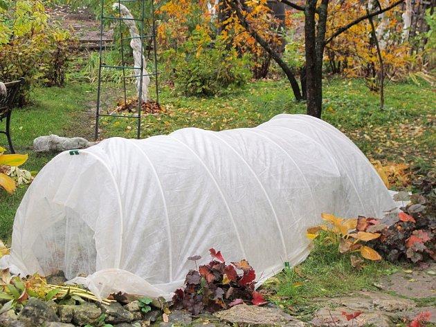 Netkaná textilie ochrání rostliny před chladem i větrem