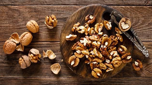 Jádra vlašských ořechů jsou velmi zdravá.