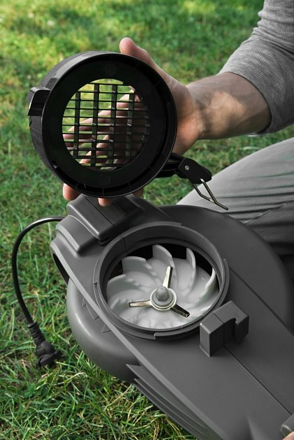 Detail ventilátoru s drticím nožem