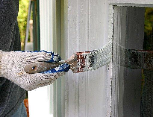 natírání oken