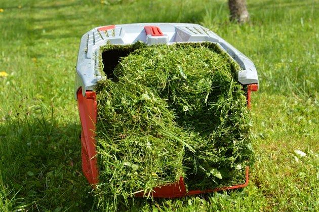 První trávu vždy uložíme do kompostu.
