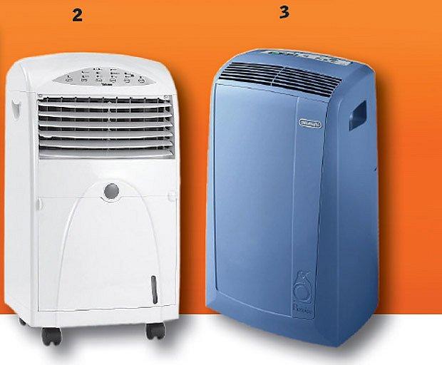 Mobilní ochlazovač vzduchu Tristar AC 5491 a DeLonghi PAC N908