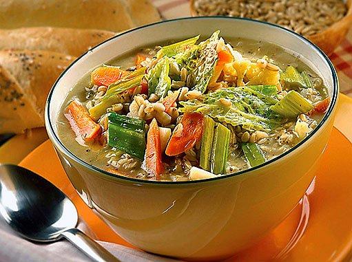 bezpluchá polévka