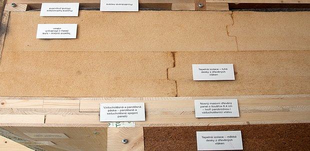 Dřevostavba z masivních panelů a difúzně propustné tuhé tepelné izolace