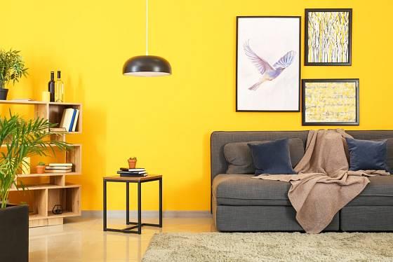 Na žluto vymalované zdi určitě rozzáří celý pokoj.