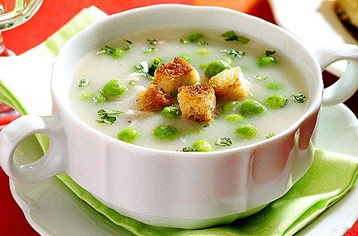 rybí polévka s hráškem