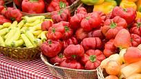 různé odrůdy paprik