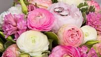Velká svatební kytice.