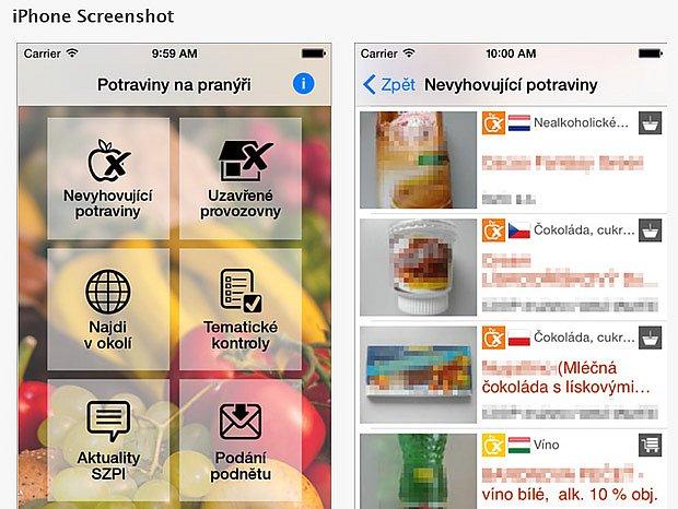 Aplikace pro kontrolu nakupovaných potravin