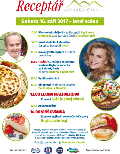 Program Dne Receptáře na Zahradě Čech v Litoměřicích
