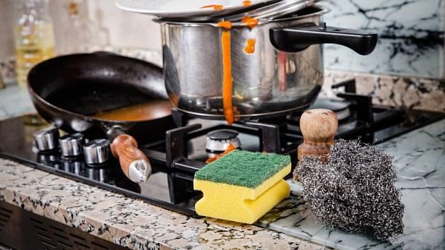 Pro některé druhy nádobí není používání hrubých drátěnek vhodné.