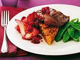 Zvěřinové steaky s hruškami
