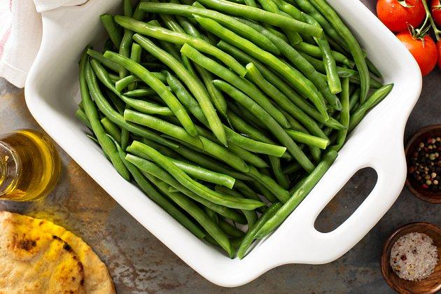 Blanšírované fazolky si zachovají barvu i chuť