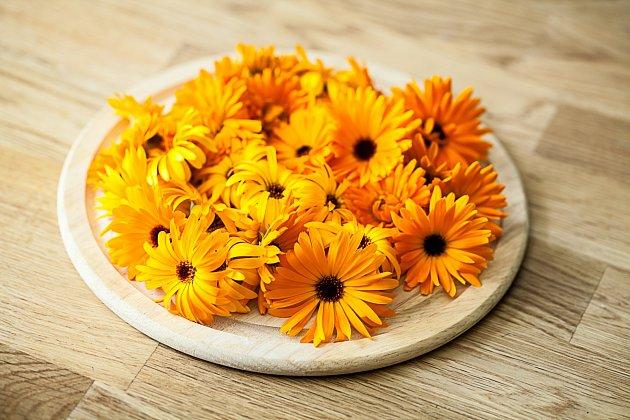 Květy měsíčku jsou vhodné k výrobě čajů, šťáv a limonád.