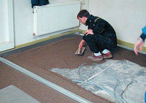 zateplení podlahy suchým posypem