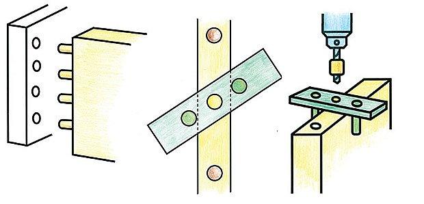 spojování dřeva kolíčky