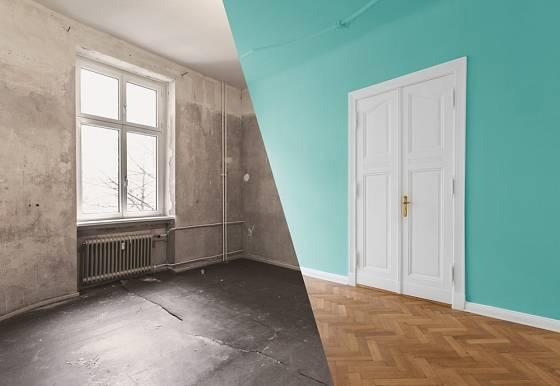 Renovace bytu stojí nemalé úsilí, ale výsledek stojí za to.