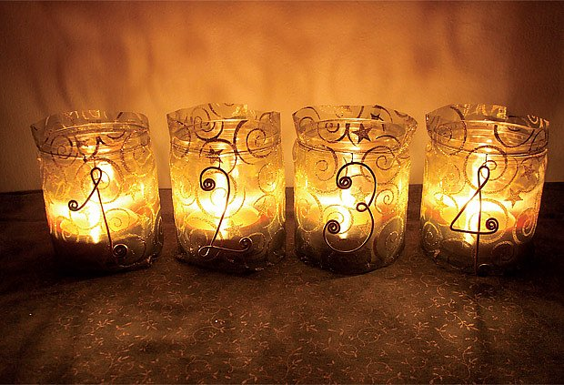 Skleněné svícny