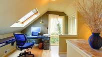 Podkroví lze využít například pro dětský pokoj nebo pracovnu.