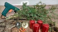 Co budeme potřebovat k výrobě adventního aranžmá z kůry.