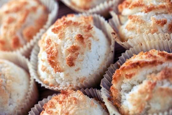 Kokosovo fazolové dortíčky