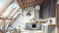 Kuchyň v podkroví