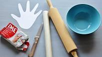 Potřeby pro výrobu odkládací mističky ve tvaru rukyy